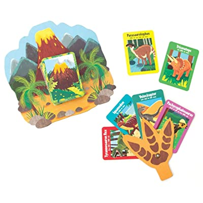 Playhouse Dinosaur Go Fish! Card Game with Claw Shaped Easy Card Holders: Toys & Games