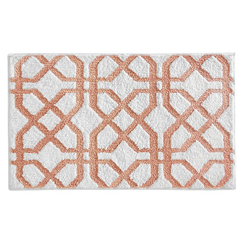 er Trellis Rug, 34 by 21-Inch, Coral/White (Coral Trellis)