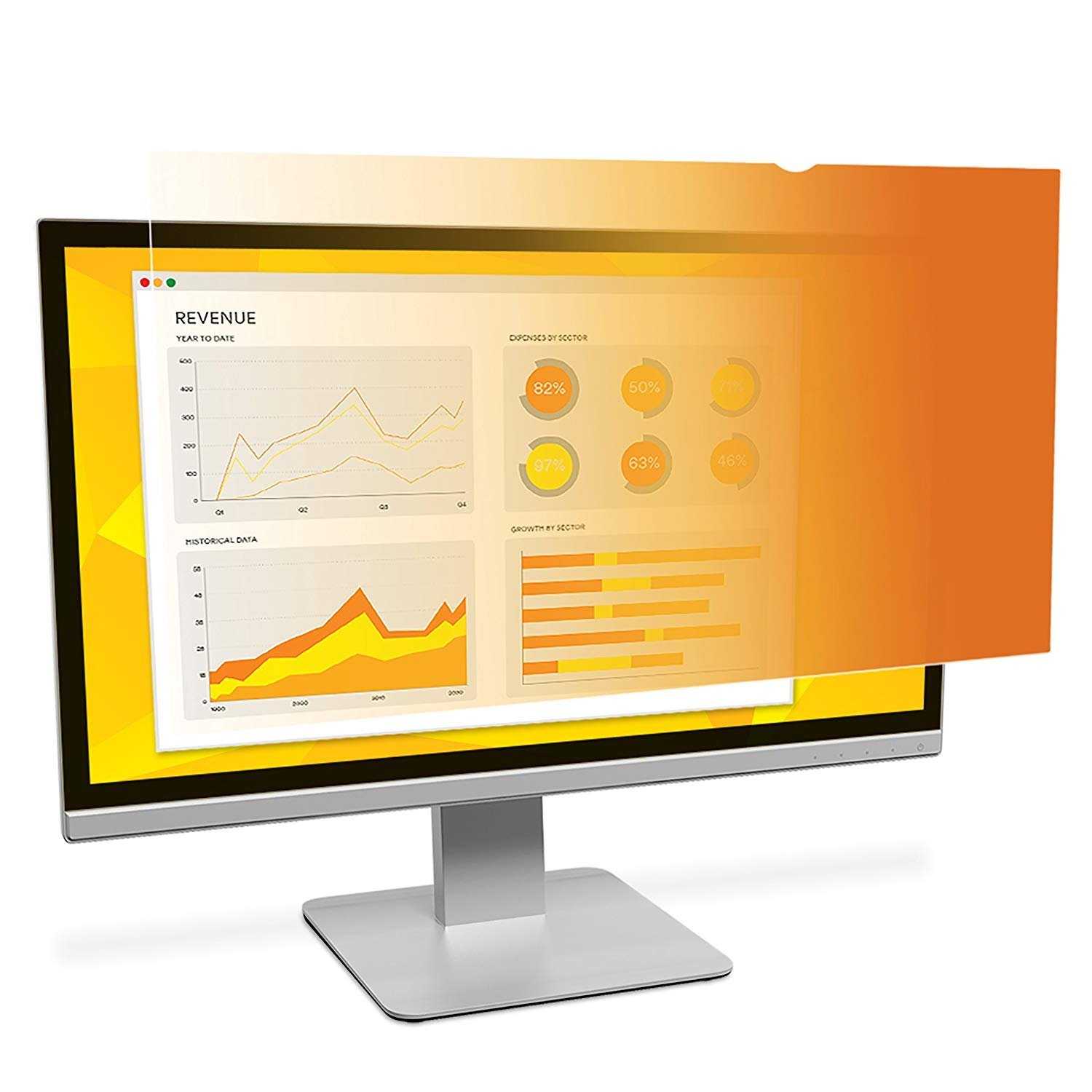 "Amazon.com: 3M Gold Privacy Filter for 22"" Widescreen Monitor (16:10)  (GF220W1B): Computers & Accessories"