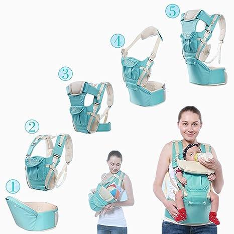 Maike High portabebés ergonómico para niños y niños pequeños 3 posiciones ajustables Baby correa Máquina de