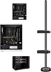 upHere Graphics Card GPU Brace Support Video Card Sag Holder/Holster Bracket, Anodized Aerospace Aluminum, Single or Dual Slot Cards Black (G205)
