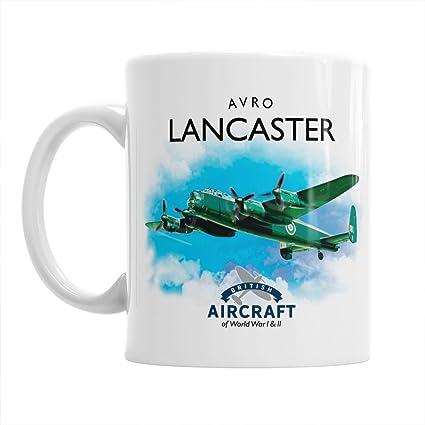 AVRO LANCASTER WW11 RAF BOMBER AIRCRAFT MUG.