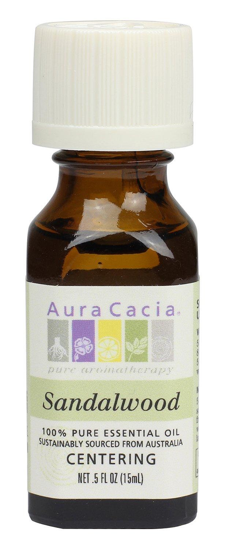 Aura Cacia Essential Oil, Focusing Sandalwood, 0.5 fluid ounce