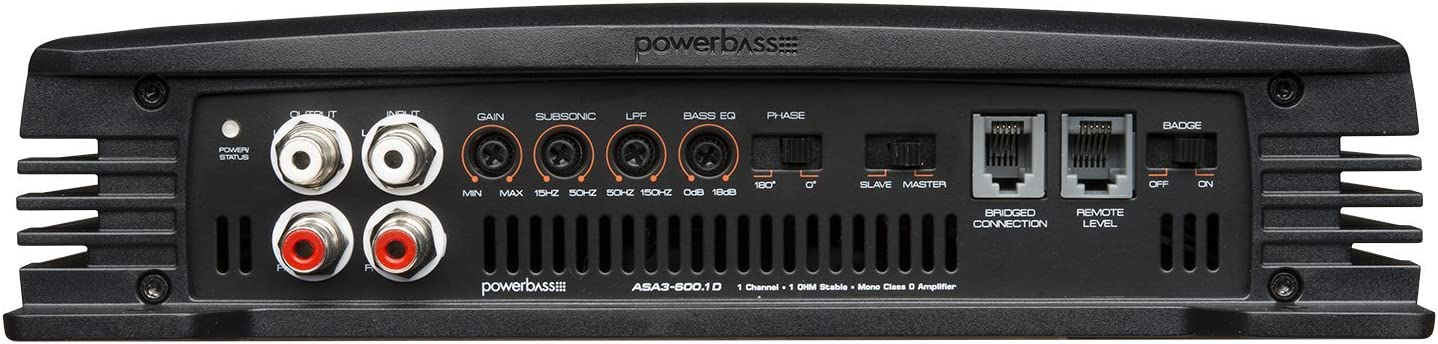 ASA3600.1D Powerbass 600W X 1 Ω Class D Amplifier
