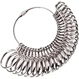 #9: MUDDER Ring Gauges Finger Sizer Measuring Ring Tool, Size 1-13 with Half Size, 27 Piece