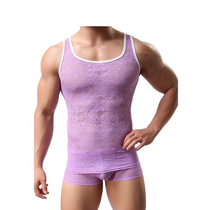 Camiseta transparente de tirantes y con encaje. Opción de colores.