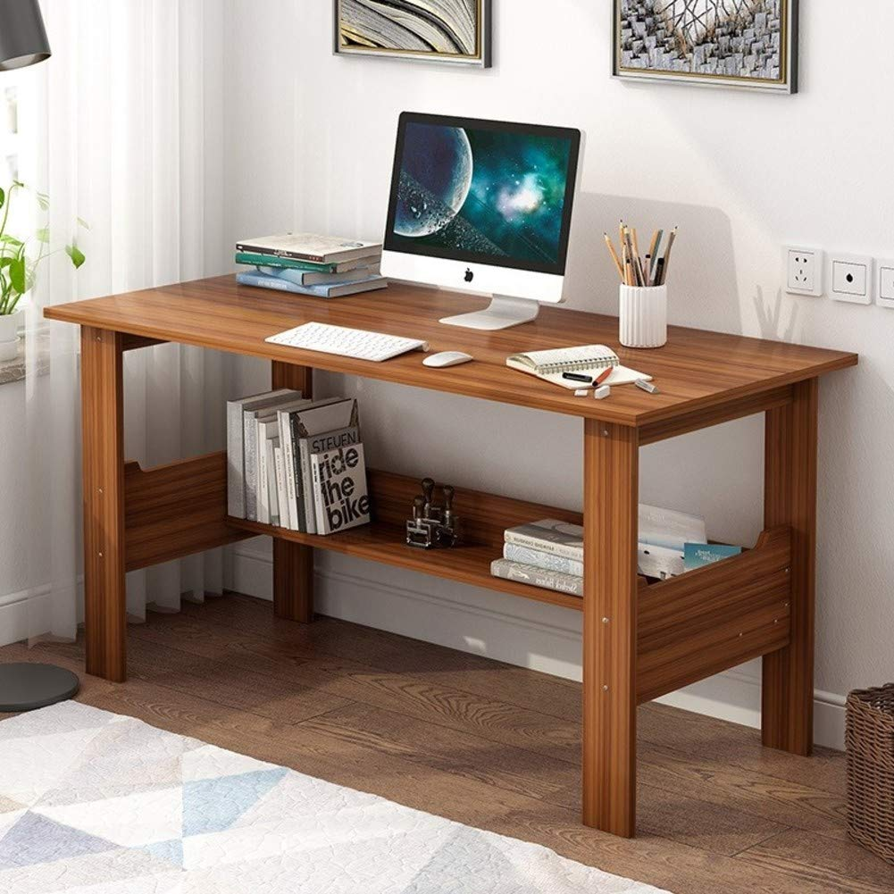 F 120x45x72cm(47x18x28in) Simple Writing Computer Table,Home Office Computer Desk with Storage Shelves,pc Laptop Study Table Multipurpose Workstation-f 120x45x72cm(47x18x28in)