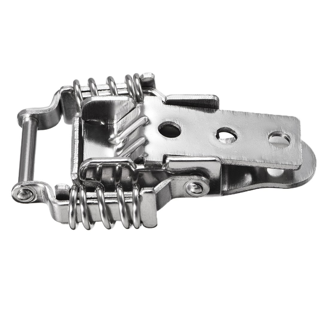 2 Set Aviation Toolbox Silver Tone Metal Draw Toggle Latch Catch 73mm uxcell a14021800ux0557