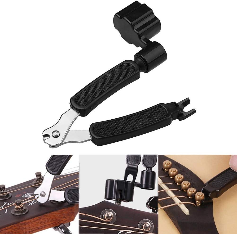 Cortadora de cuerda, winder y tirador de puentes 3 en 1 de Ruix, prémium, todo en uno, para instrumentos eléctricos y acústicos