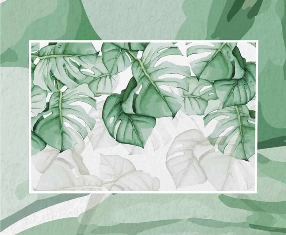 Pintado a mano plantas tropicales tv fondo papel de pared n/órdico peque/ña tortuga fresca hoja posterior sala de estar dormitori papel pintado a papel pintado pared dormitorio autoadhesivo-300cm/×210cm