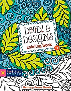 CT PUBLISHING Doodle Designs Coloring Book 18 Fun See How Colors Play Together