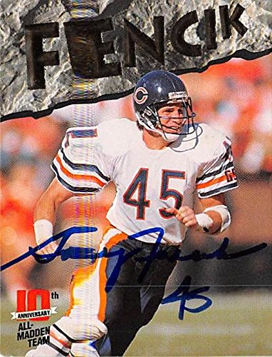 e6b3b0a7801 Gary Fencik autographed Football Card (Chicago Bears) 1993 Action Packed #7  at Amazon's Sports Collectibles Store
