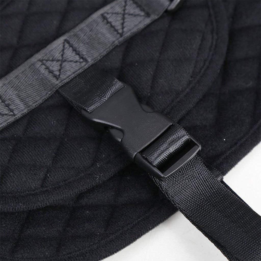 Nero Xrten Gilet di sicurezza per bambini,Cintura di Sicurezza Della Maglia Gilet Cintura di Sicurezza Portatile per Aerei Auto Sgabello Alto