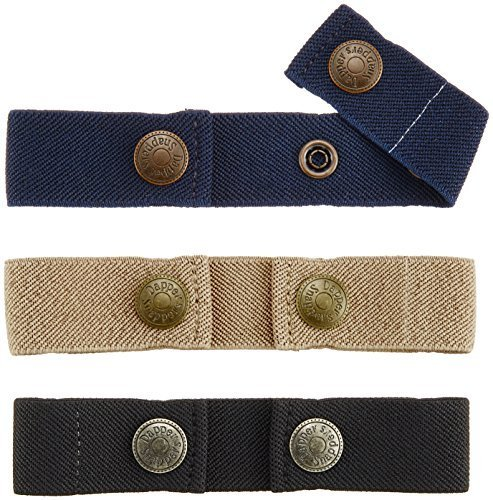 Dapper Snapper Baby & Toddler Adjustable Belt- Boy's Colors: Navy, Beige and Black by Dapper Snappers - Dapper Snapper Beige