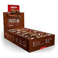Prozis Barrette Protein Deluxe 12 x 80g - Delizioso snack al cioccolato al latte senza sensi di colpa: 20g di proteine, fonte di fibre e povero di carboidrati - Alto profilo nutrizionale!