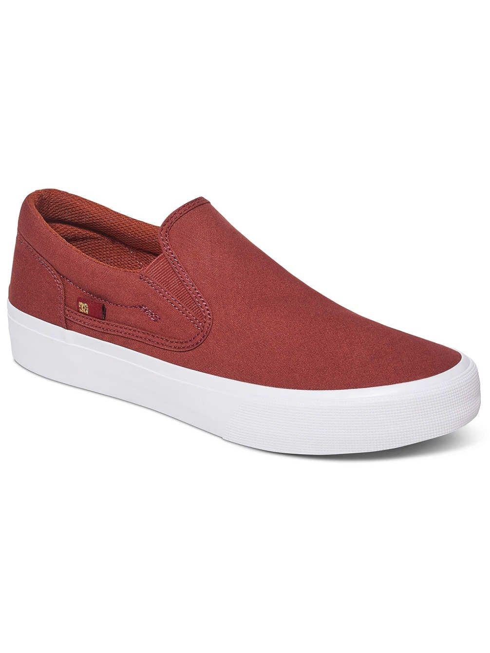 DC Shoes Trase - Zapatillas para Hombre 43 EU|Burnt Henna/White