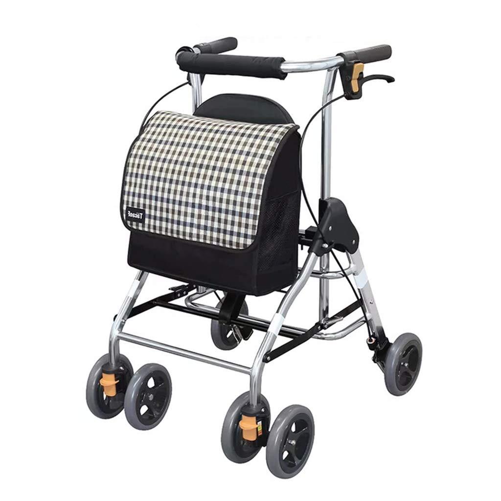 見事な 歩行器 ウォーカー折りたたみ式ウォーカー椅子ポータブルショッピングカート高齢者用トロリー/スクーターウォーカー腰掛け可能耐荷重75kg高齢者に親密な贈り物を与える (Color 歩行器 : : Black Black) Black B07MH2RYDJ, 肩こりストレスセルライトの本格屋:ead37343 --- a0267596.xsph.ru
