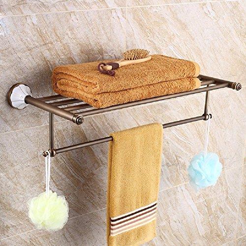 HQLCX European Style Retro Towel Bar, All Copper American Antique Towel Bar by HQLCX-Towel Bar