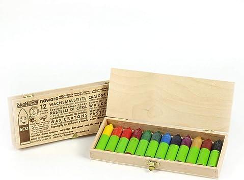 Caja de Madera Mini Ceras GNOME Nawaro, 6 Colores: Amazon.es: Bebé
