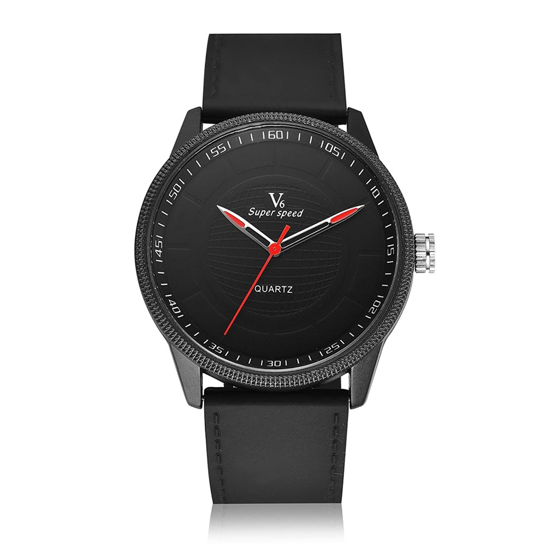 v6メンズファッションカジュアルスタイルQuartz Movementシリコンストラップ腕時計 B06Y61PTCY