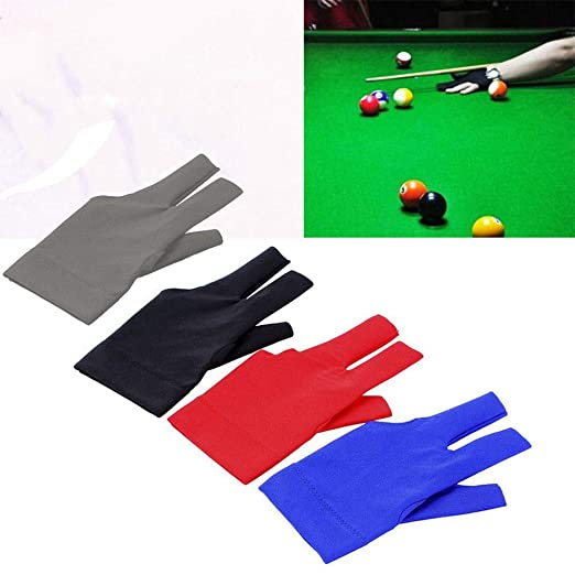 Cue Pool Sport Spandex Snooker Left Hand Open Three Finger Grey flierhoo Billiard Gloves