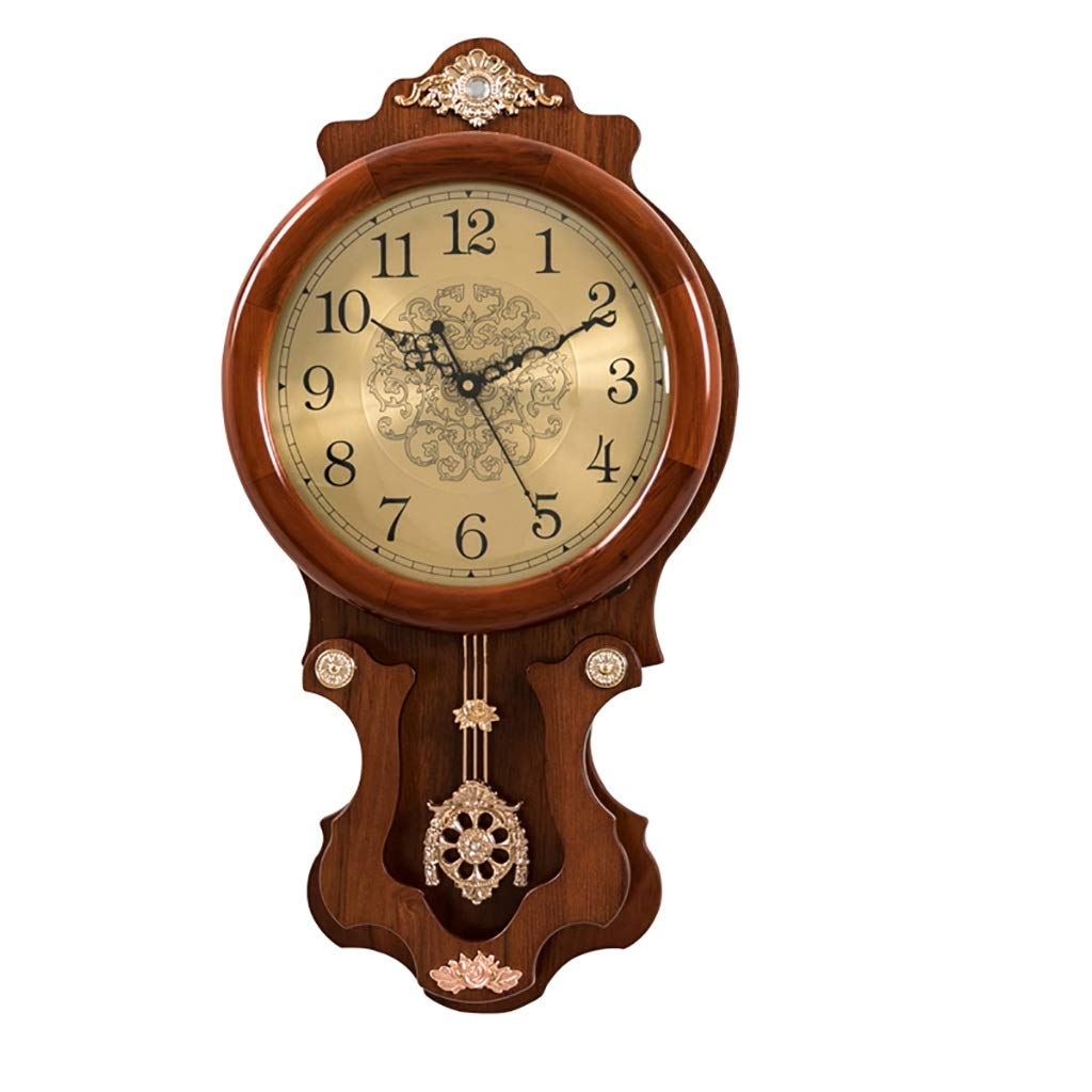 壁時計無垢材ミュート現代のシンプルさ60 * 32 cmクォーツ時計   B07R7V5MLY