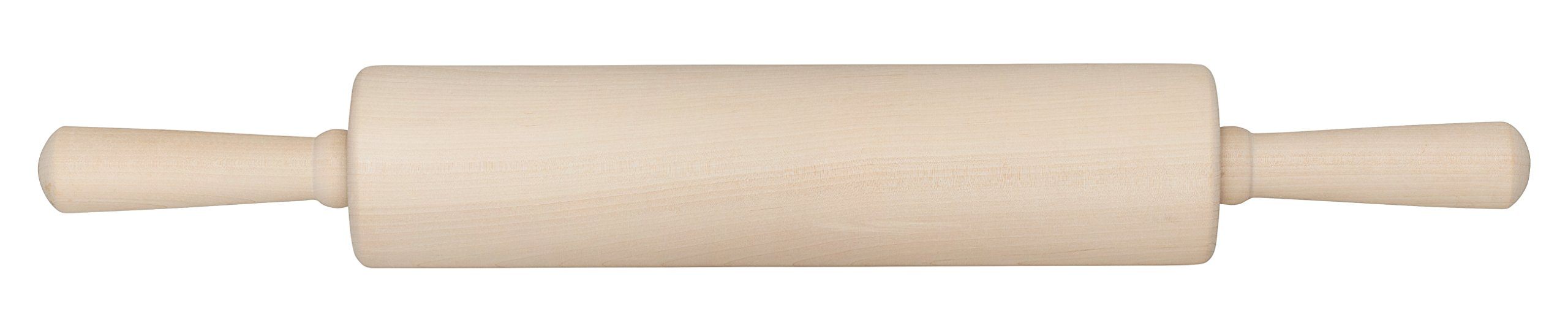 Mrs. Anderson's Stainless Steel Ball Bearing,Classic Wooden Rolling Pin, Made in America,12-Inch by 2.75-Inch