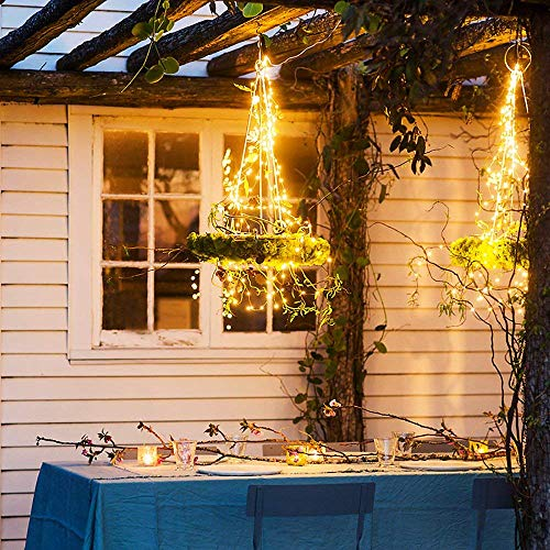 Led Fairy String Lights,2 Set 10m/33ft 100led Battery operated Copper Wire string lights with Remote Control ,8modes waterproof Decor lights Starry Light For Indoor/outdoor Bottle Garden Bedroom Wedding,Tree