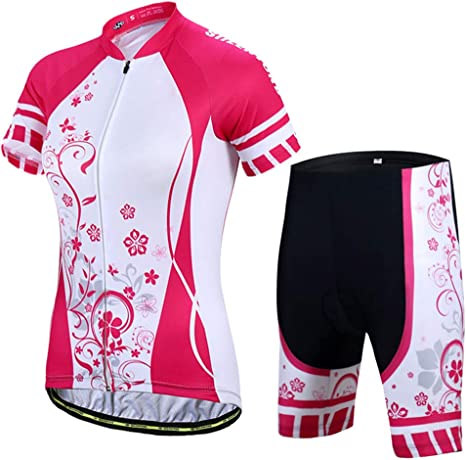 TZTED Conjunto Maillot Bicicleta Mujeres Jersey de Manga Corta ...