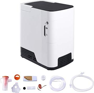 VONOYA 170W Concentrador de Oxígeno 1-7L/min con Máscara Generador de Oxígeno Portátil y Silencioso de Alta Pureza Máquina de Oxígeno para Uso Doméstico y de Viaje (2L)