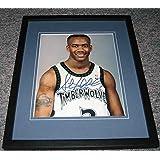 Stephon Marbury Autographed Photo - Framed 8x10 Georgia Tech Timberwolves - Autographed NBA Photos