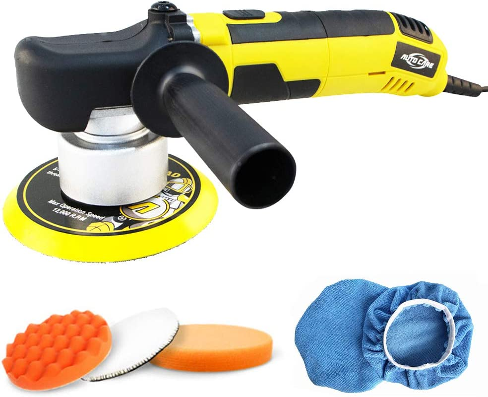 Autocare 6-Inch Car Dual Action Polisher and Buffers 680W, 1500-6500 rpm Orbital Sander Machine, 6 Variable Speeds,150MM Base, Detachable Handle for Car Floor Glass Furniture Polishing Sanding Waxing