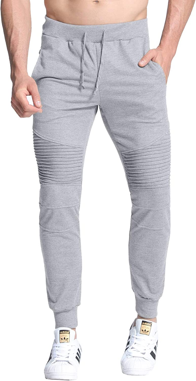 Mens Elastic Waist Tracksuit Pants Joggers Sports Hip Hop Skinny Trousers Casual