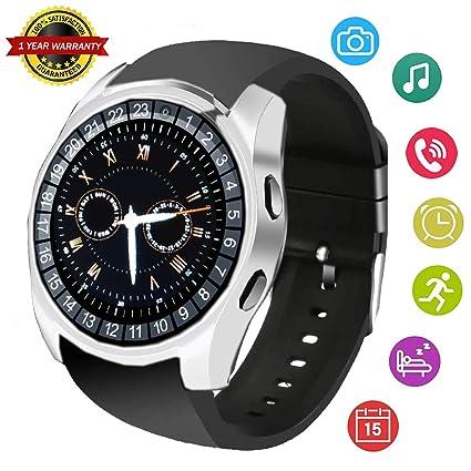 Smart Watch Bluetooth Touchscreen Smart Wrist Watch Smartwatch Unlocked Fitness Tracker SIM SD Card Slot Camera Pedometer Compatible with iOS iPhone ...