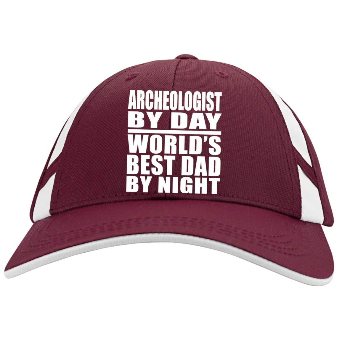 Archeologist by Day World's Best Dad by Night - Mesh Inset Cap Designsify