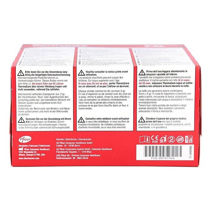 Pfizer Thermacare - Bandas térmicas lumbares (talla S-XL, 4 unidades): Amazon.es: Salud y cuidado personal