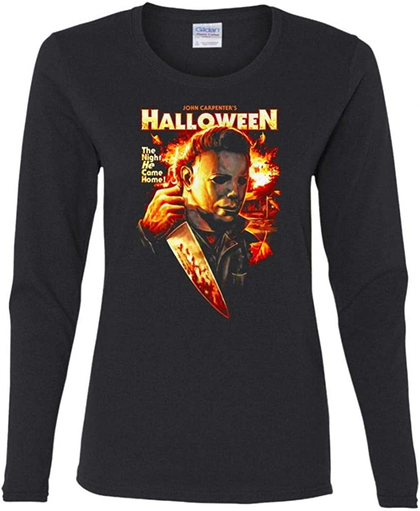 Michael Myers Halloween The Night He Came Home Women's Long Sleeve