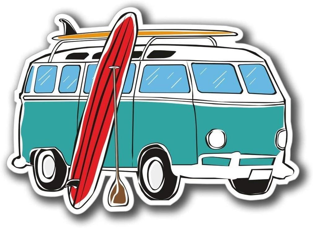 Camper Van Surf Surfer Vinyl Sticker Decal Laptop Car Bumper Sticker Travel Luggage Car iPad Sign Fun 5