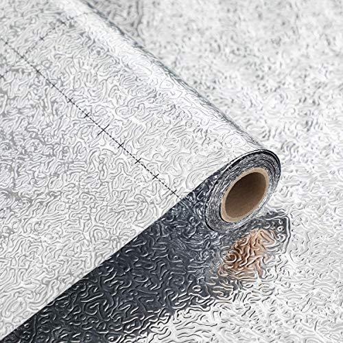 Moradiya Fresh Aluminum Foil Stickers, Oil Proof, Kitchen Backslash Wallpaper Self-Adhesive for Kitchen Sticker Anti…