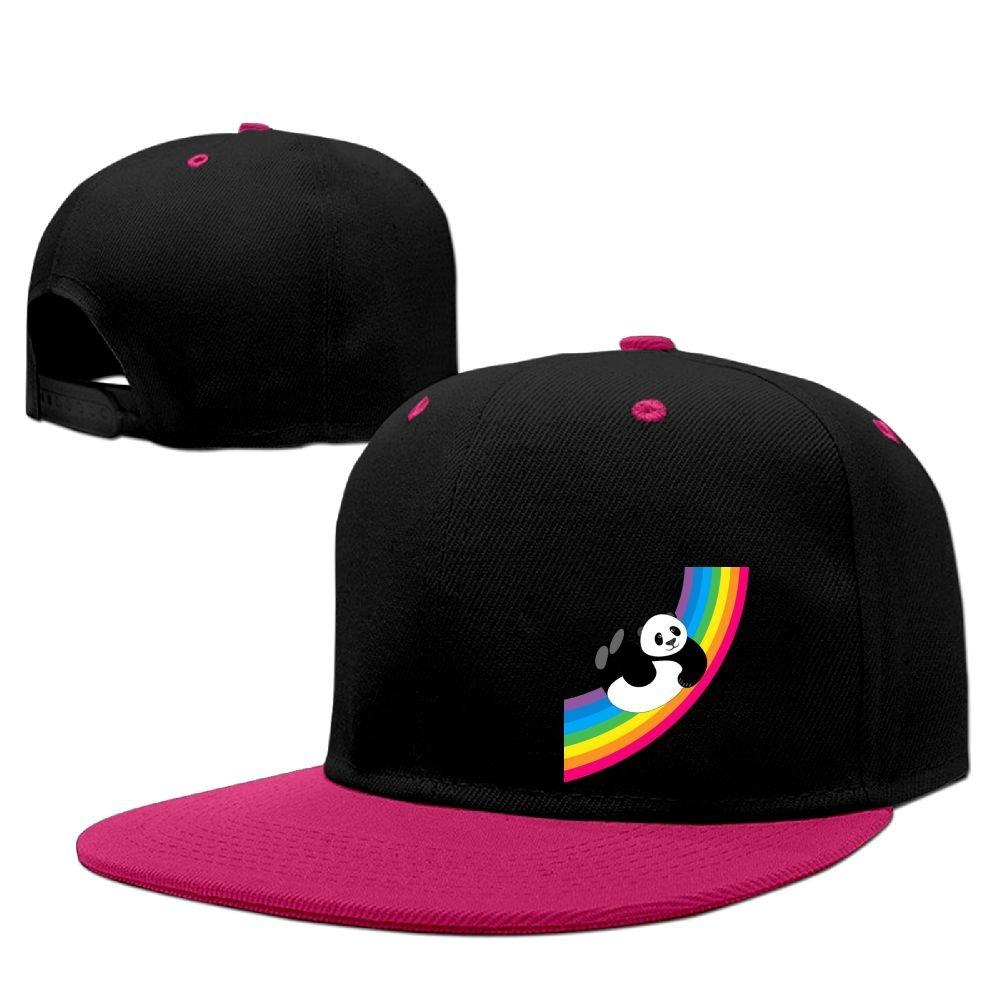 Lichang Cute Panda Rainbow Unisex Adjustable Snapback Hip Hop Hat Trucker Cap