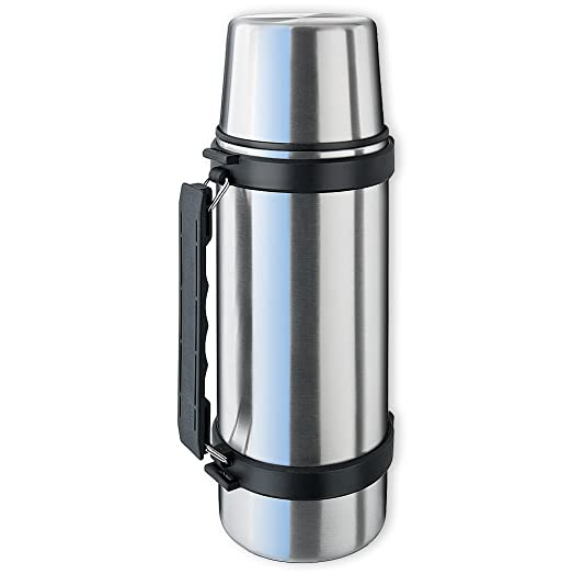 177 opinioni per Isosteel VA-9553Q Thermos in acciaio INOX 1,0 L con sistema Quickstop, manico e
