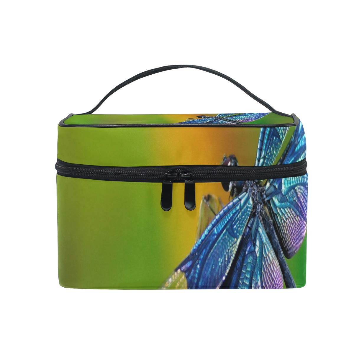 Makeup Organizer Dragonfly Wallpapers Womens Zip Toiletry Bag Large Case Cosmetic Bags