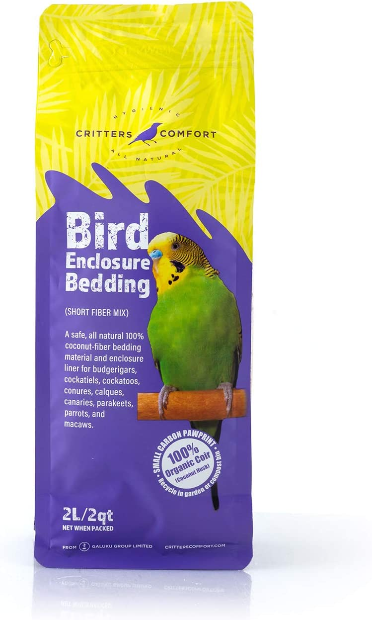 Critters Comfort Bird Bedding & Nesting Material Natural Coconut Fiber - 2Quart   2Liters