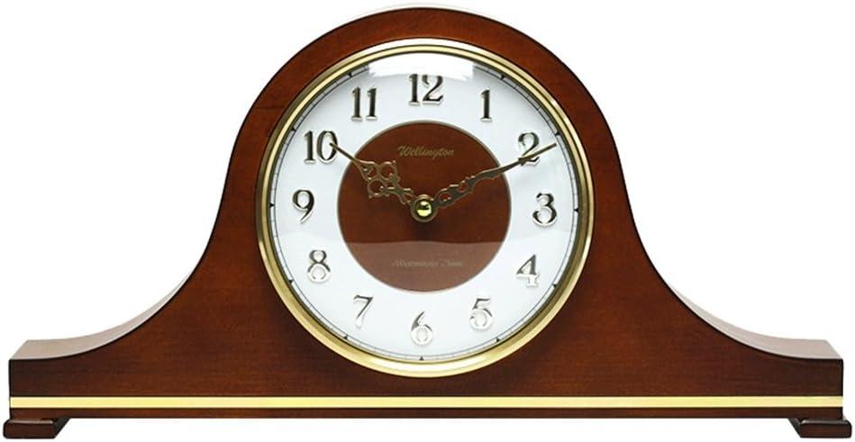 CLHXZE Orologio da Tavolo in Legno Vintage Orologio da