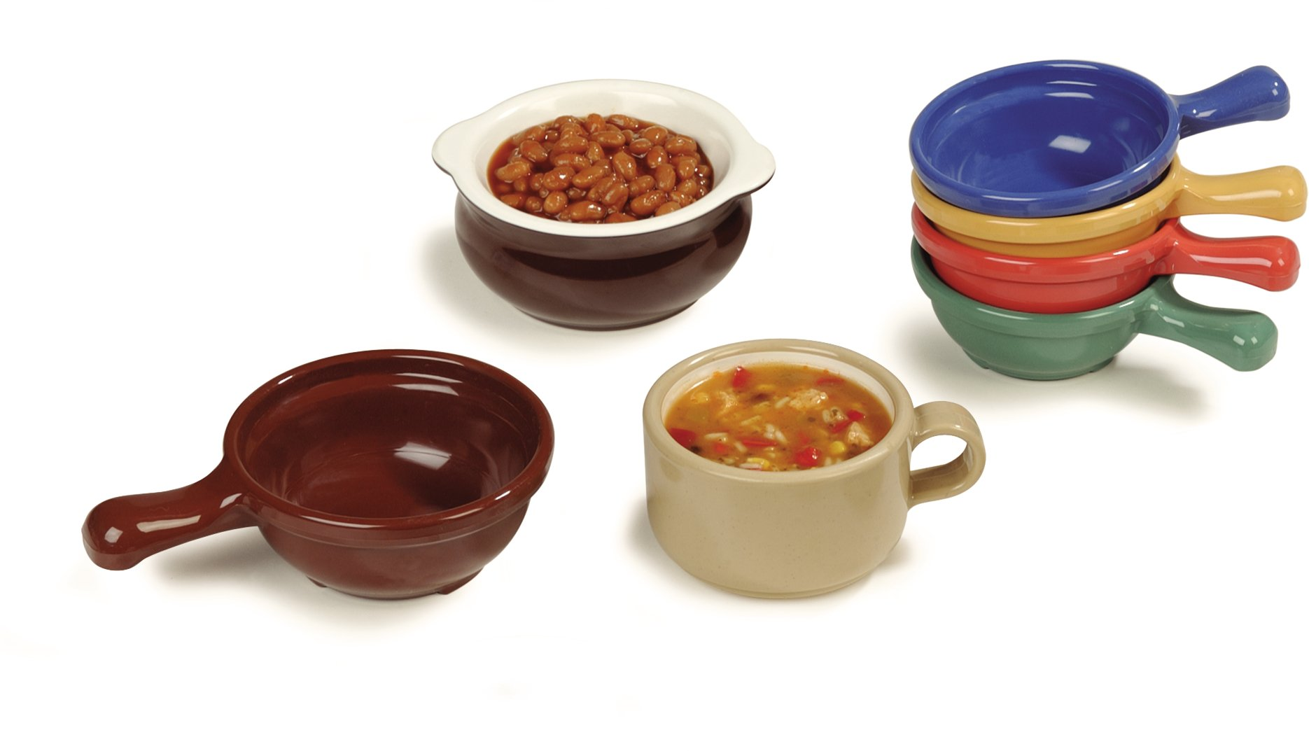 Carlisle 700614 Plastic Handled Soup Bowl, 8 oz., Ocean Blue (Pack of 24) by Carlisle (Image #8)
