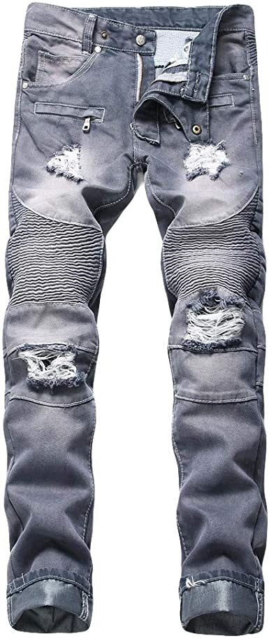 Pantalones Vaqueros Rotos Hombre, Gusspower Jeans Pantalones ...