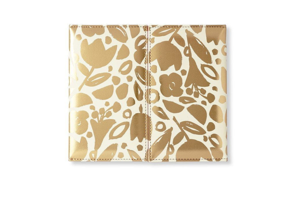 Kate Spade New York Weekly Trifold Desk Calendar, Golden Floral