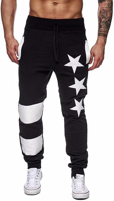 _Hombres Pantalones Hombres Pantalones, Casuales Jogger ...