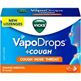 VICKS VapoDrops + COUGH Orange Menthol 36 Cough Lozenges