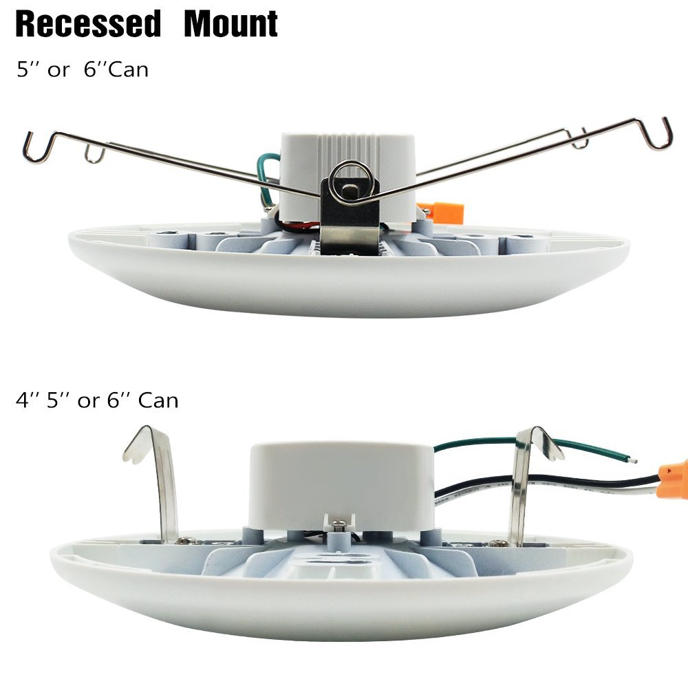 TORCHSTAR Dimmable LED Surface & Recessed Mount LED Downlight Kit ...